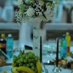 Aranjament floral nunta hortensie garoafe frezii