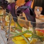 Detalii florale cale grena cu lamie boluri sticla