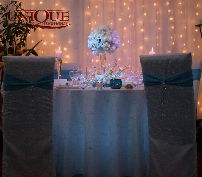 Decoratiuni Nunta Dantela Alb Turquoise Unique Moments