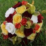 buchet-mireasa-trandafiri-orhidee-verde