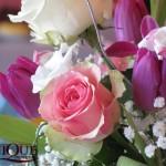 Aranjament floral mese invitati botez Unique Moments