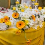 Aranjamente florale-Flori pentru prezidiu nunta restaurant Pleiada Iasi