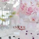 Aranjamente florale-Nunta vintage decor floral roz prafuit colivii camee
