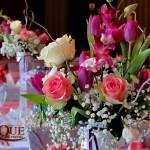 Aranjamente florale botez roz mov Unique Moments