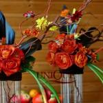 Aranjamente florale nunta tematica de toamna Iasi trandafiri crengi crizantele ranuculus