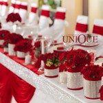 Decor nunta alb rosu
