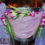 Botez fetita cristelnita decorata cu orhidee trandafiri lalele Unique Moments