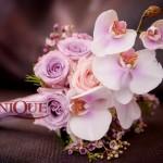 Buchet mireasa Iasi orhidee trandafiri mov