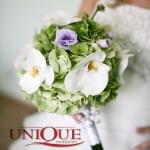 Buchet nunta hortensie si orhidee