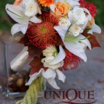 Decor nunta cu flori de toamna restaurant Pleiada Iasi