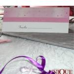 Card asezare invitati botez marturie suzeta roz Unique Moments