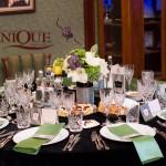 Decor masa nunta negru verde restaurant Select