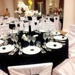 Decor nunta alb negru restaurant Bellaria