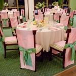 Decor nunta roz verde Motel Bucium
