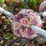 Lumanari nunta Iasi mov roz
