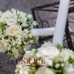 Lumanari nunta frezii, trandafiri, minirose, lalele, eustoma