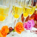 Pahare miri decorate cu trandafiri naturali Unique Moments