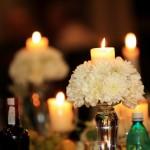 Sfesnice sticla cu aranjamente florale si lumanari Unique Moments