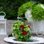 Decor nunta cu flori verzi