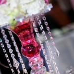 Aranjament floral cu sirag cristale