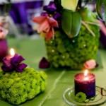 Aranjamente florale decor primavara verde mov Motel Bucium
