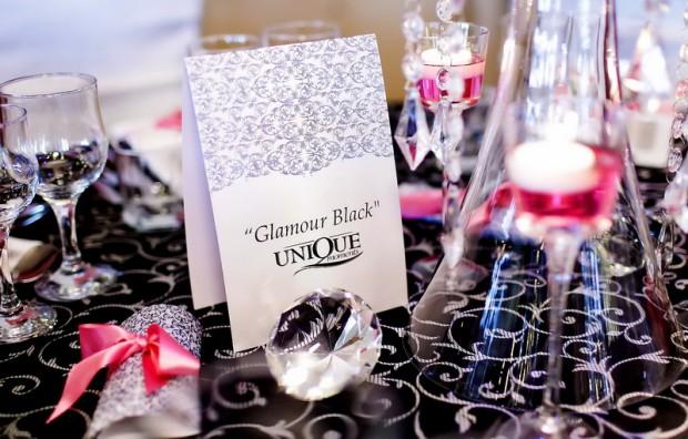 Decor nunta 2011 Glamour Black alb negru cristale Motel Bucium Repetitie Pentru Nunta Unique Moments
