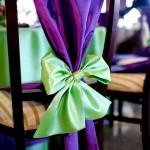 Decoratiuni scaun Motel Bucium tafta mov si verde Unique Moments
