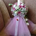 Lumanare botez fetita 2011 tull roz Unique Moments Iasi
