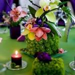 Masa decor nunta primavara verde mov Motel Bucium
