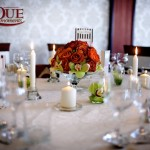 Masa rotunda nunta Motel Bucium decor de toamna culori crem maro ruginiu verde