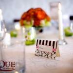 Place cards crem maro decoratiuni nunti Motel Bucium