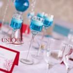 Decor masa nunta de proba Motel Bucium 2012 culori alb rosu turquoise