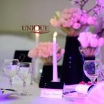 Elemente decorative decor alb navy roz lumanari albe carduri masa inele catifea pentru servetele Astoria Iasi