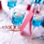 Lumanari decor nunta turquoise rosu