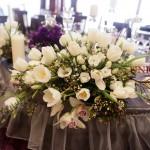 Aranjament nunta tematica Iasi primavara lalele, frezii, orhidee
