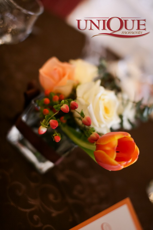 Detalii decor masa nunta