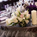 Prezidiu nunta decor tematic primavara cu lalele frezii orhidee