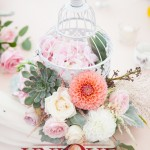Succulent and dahlia Wedding Flowers by Unique Moments