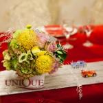Aranjamente florale masa prezidiu botez